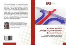 Buchcover von Barrière Hémato-encéphalique et transfert trans-endothélial