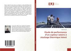 Portada del libro de Etude de performance d'un capteur solaire à stockage thermique latent