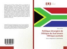 Bookcover of Politique étrangère de l'Afrique du Sud envers l'Afrique australe