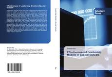 Bookcover of Effectiveness of Leadership Models in Special Schools
