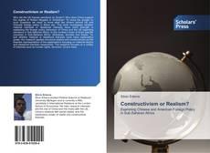 Capa do livro de Constructivism or Realism?