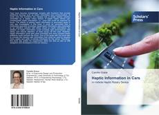 Capa do livro de Haptic Information in Cars