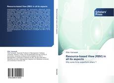 Copertina di Resource-based View (RBV) in all its aspects