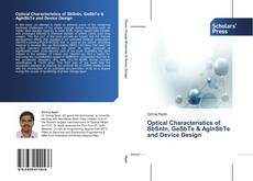 Capa do livro de Optical Characteristics of SbSnIn, GeSbTe & AgInSbTe and Device Design