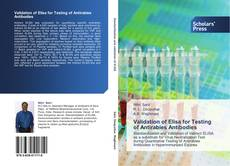 Capa do livro de Validation of Elisa for Testing of Antirabies Antibodies