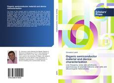 Organic semiconductor material and device characterization的封面