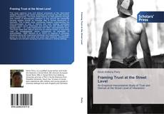 Capa do livro de Framing Trust at the Street Level