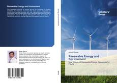 Bookcover of Renewable Energy and Environment