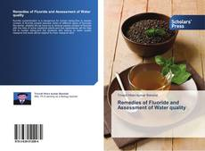 Capa do livro de Remedies of Fluoride and Assessment of Water quality