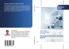 Bookcover of Cloning of glnA from Bacillus brevis