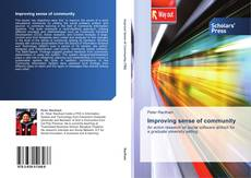 Bookcover of Improving sense of community