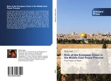 Capa do livro de Role of the European Union in the Middle East Peace Process