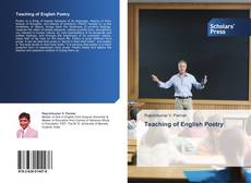 Bookcover of Teaching of English Poetry