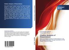 Buchcover von Citation Analysis of Dissertations