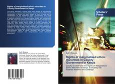 Buchcover von Rights of marginalised ethnic minorities in County Government in Kenya