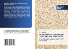 Copertina di BIOCHAR EFFECT ON SESAME YIELD AND SOIL PROPERTIES