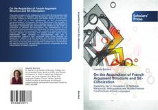 Bookcover of On the Acquisition of French Argument Structure and SE-Cliticization