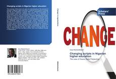 Couverture de Changing scripts in Nigerian higher education