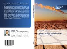 Bookcover of Impact of Fluorine Industry on its surrounding area