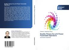Buchcover von Duality Theory for p-th Power Factorable Operators