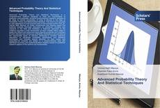 Bookcover of Advanced Probability Theory And Statistical Techniques