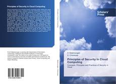 Bookcover of Principles of Security in Cloud Computing