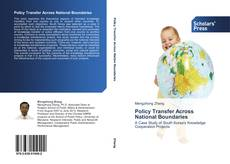 Bookcover of Policy Transfer Across National Boundaries