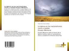 Portada del libro de La Iglesia en los nacionalismos vasco y catalán  Ensayo-Memoria