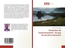 Portada del libro de Protection de l'environnement : les gaz du lac Kivu menacent