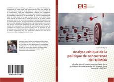 Capa do livro de Analyse critique de la politique de concurrence de l'UEMOA