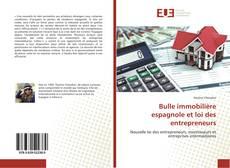 Bulle immobilière espagnole et loi des entrepreneurs的封面