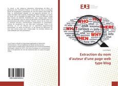 Portada del libro de Extraction du nom d'auteur d'une page web type blog