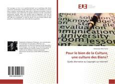 Copertina di Pour le bien de la Culture, une culture des Biens?