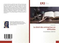 Bookcover of Le droit des entreprises en difficultés