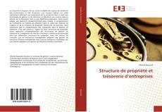 Copertina di Structure de propriété et trésorerie d'entreprises