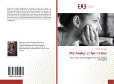 Bookcover of Méthodes et formation