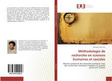 Capa do livro de Méthodologie de recherche en sciences humaines et sociales