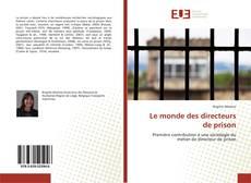 Обложка Le monde des directeurs de prison