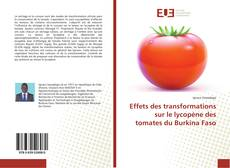 Bookcover of Effets des transformations sur le lycopène des tomates du Burkina Faso