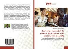 Couverture de Ordonnancement de la Culture d'Entreprise, une prescription possible