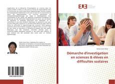 Copertina di Démarche d'investigation en sciences & élèves en difficultés scolaires