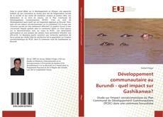 Bookcover of Développement communautaire au Burundi - quel impact sur Gashikanwa?