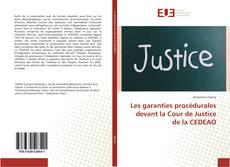 Les garanties procédurales devant la Cour de Justice de la CEDEAO kitap kapağı