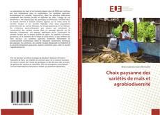 Buchcover von Choix paysanne des variétés de maïs et agrobiodiversité