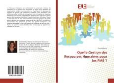Couverture de Quelle Gestion des Ressources Humaines pour les PME ?