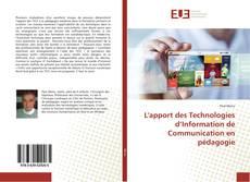 Capa do livro de L'apport des Technologies d'Information de Communication en pédagogie
