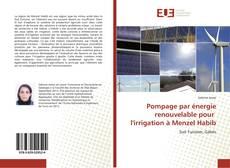 Copertina di Pompage par énergie renouvelable pour l'irrigation à Menzel Habib