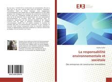 Couverture de La responsabilité environnementale et sociétale