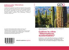 "Cultivo in vitro ""Alternativas Sustentables"" kitap kapağı"