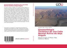 Portada del libro de Geomorfología Tectónica de una Falla Normal Activa de Bajo Angulo